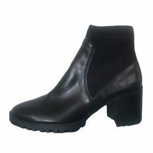 Zara Vegan Leather Knit Sock Style Chelsea Boot 39